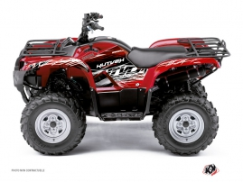 Yamaha 125 Grizzly ATV Eraser Graphic Kit Red White