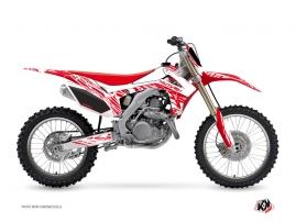 Honda 250 CRF Dirt Bike Eraser Graphic Kit White Red