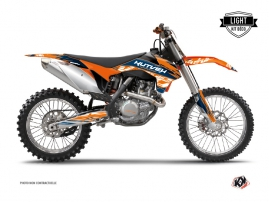KTM 250 SX Dirt Bike Eraser Graphic Kit Blue Orange LIGHT