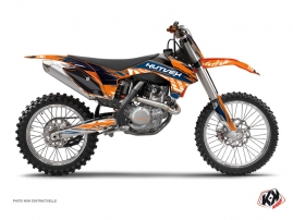 KTM 250 SX Dirt Bike Eraser Graphic Kit Blue Orange