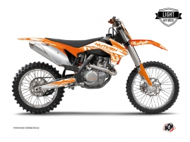KTM 250 SX Dirt Bike Eraser Graphic Kit Orange LIGHT