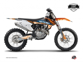 KTM 250 SXF Dirt Bike Eraser Graphic Kit Blue Orange LIGHT