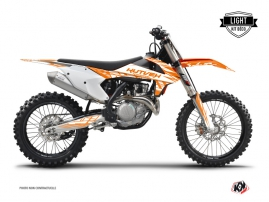 KTM 250 SXF Dirt Bike Eraser Graphic Kit Orange LIGHT