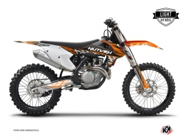 KTM 250 SXF Dirt Bike Eraser Graphic Kit Orange Black LIGHT