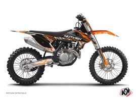 KTM 250 SXF Dirt Bike Eraser Graphic Kit Orange Black