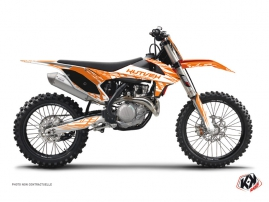 KTM 250 SXF Dirt Bike Eraser Graphic Kit Orange