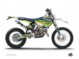 Husqvarna 250 TE Dirt Bike Eraser Graphic Kit Yellow Blue