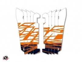 Graphic Kit Radiator guards Eraser Yamaha 250 YZF 2014-2016 Blue Orange