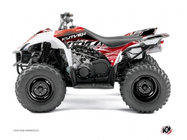 Yamaha 350-450 Wolverine ATV Eraser Graphic Kit Red White