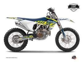 Kit Déco Moto Cross Eraser Husqvarna FC 350 Jaune Bleu LIGHT