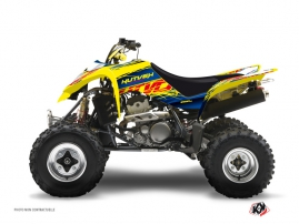 Suzuki 400 LTZ ATV Eraser Graphic Kit Blue Yellow