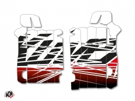 Graphic Kit Radiator guards Eraser Honda 450 CRF 2013-2016 Red White