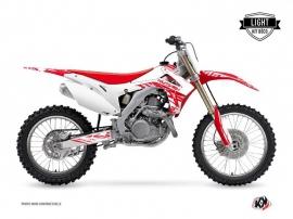Honda 450 CRF Dirt Bike Eraser Graphic Kit White Red LIGHT