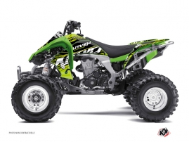 Kawasaki 450 KFX ATV Eraser Graphic Kit Green Black