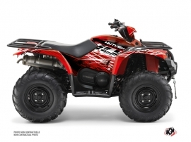 Yamaha 450 Kodiak ATV Eraser Graphic Kit Red White