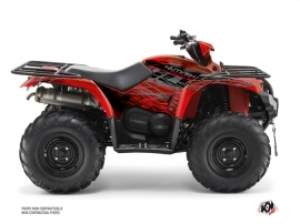 Yamaha 450 Kodiak ATV Eraser Graphic Kit Red Grey
