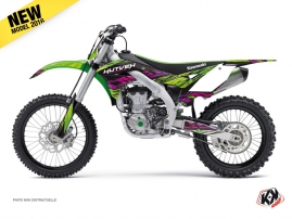 Kawasaki 450 KXF Dirt Bike Eraser Graphic Kit Green