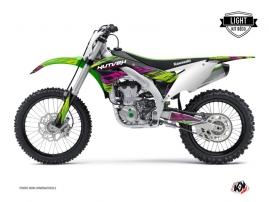 Kawasaki 450 KXF Dirt Bike Eraser Graphic Kit Green LIGHT