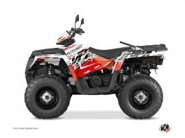Polaris 450 Sportsman ATV Eraser Graphic Kit Red White