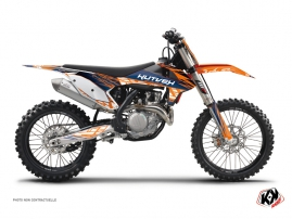 KTM 450 SXF Dirt Bike Eraser Graphic Kit Blue Orange