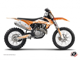 KTM 450 SXF Dirt Bike Eraser Graphic Kit Orange