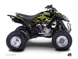 Kymco 50 MAXXER ATV Eraser Graphic Kit Neon Grey
