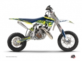Husqvarna TC 50 Dirt Bike Eraser Graphic Kit Yellow Blue