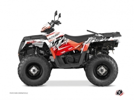 Polaris 570 Sportsman Touring ATV Eraser Graphic Kit Red White