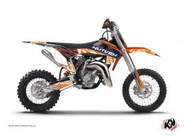 KTM 65 SX Dirt Bike Eraser Graphic Kit Blue Orange