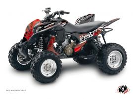 Honda 700 TRX ATV Eraser Graphic Kit Red White