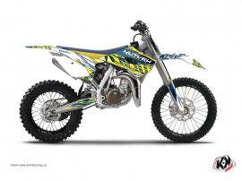 Husqvarna TC 85 Dirt Bike Eraser Graphic Kit Yellow Blue