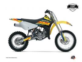 Suzuki 85 RM Dirt Bike Eraser Graphic Kit Blue Yellow LIGHT