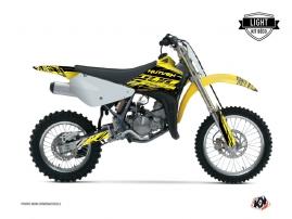 Suzuki 85 RM Dirt Bike Eraser Graphic Kit Yellow Black LIGHT
