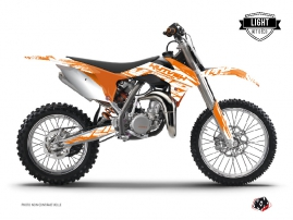 KTM 85 SX Dirt Bike Eraser Graphic Kit Orange LIGHT