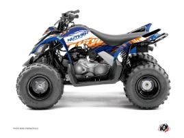 Yamaha 90 Raptor ATV Eraser Graphic Kit Blue Orange