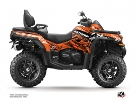 CF MOTO CFORCE 850 XC ATV Eraser Graphic Kit Orange Black