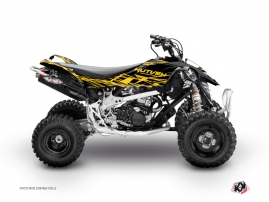 Can Am DS 90 ATV Eraser Graphic Kit Yellow Black