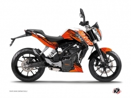 Kit Déco Moto Eraser KTM Duke 125 Orange Noir
