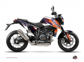 KTM Duke 690 Street Bike Eraser Graphic Kit Blue Orange