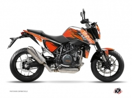 KTM Duke 690 Street Bike Eraser Graphic Kit Orange Black