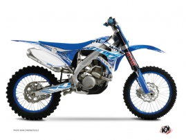 Kit Déco Moto Cross Eraser TM EN 125 Bleu