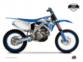 TM EN 250 FI Dirt Bike Eraser Graphic Kit Blue LIGHT