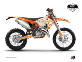 KTM EXC-EXCF Dirt Bike Eraser Graphic Kit Orange LIGHT