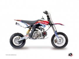 Kit Déco Moto Cross Eraser YCF F125 Rouge Bleu