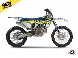 Husqvarna FC 350 Dirt Bike Eraser Graphic Kit Yellow Blue