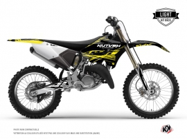 Yamaha 250 YZ Dirt Bike Eraser Fluo Graphic Kit Yellow LIGHT