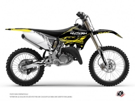 Yamaha 125 YZ Dirt Bike Eraser Fluo Graphic Kit Yellow