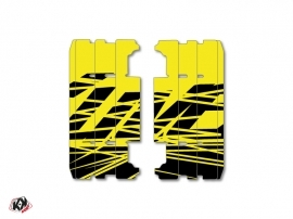 Graphic Kit Radiator guards Eraser Fluo Yamaha 125 YZ 2015-2016 Yellow