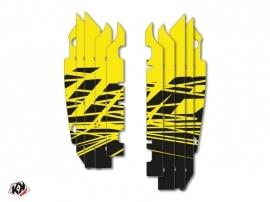 Graphic Kit Radiator guards Eraser Fluo Kawasaki 250 KXF 2013-2016 Yellow