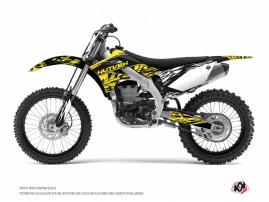 Kawasaki 250 KXF Dirt Bike Eraser Fluo Graphic Kit Yellow